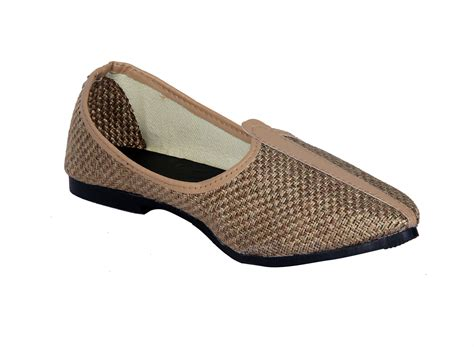 Handcrafted Footwear - buy panahi s handcrafted ethnic brown jutti in