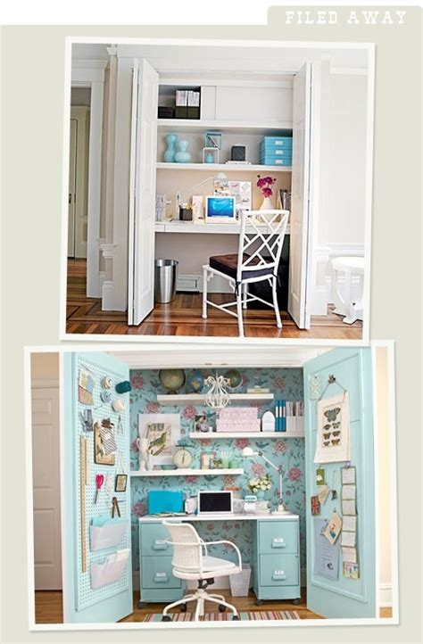 closet desks closet office ideas crafty dame pinterest