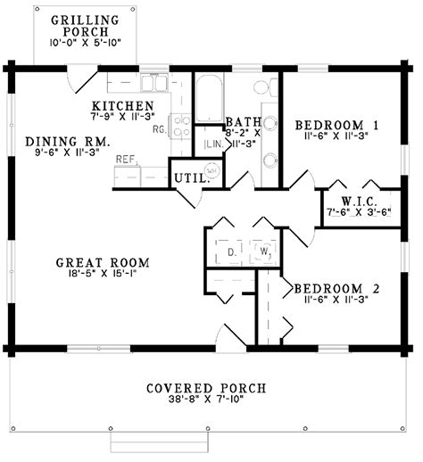 two bedroom cottage floor plans 2 bedroom cottage house plans house design plans