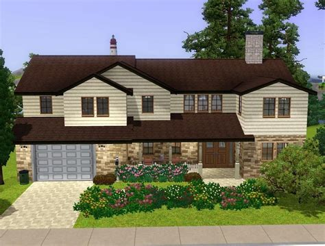 Design Basics Two Story Home Plans Mod The Sims Cozy Suburban Home