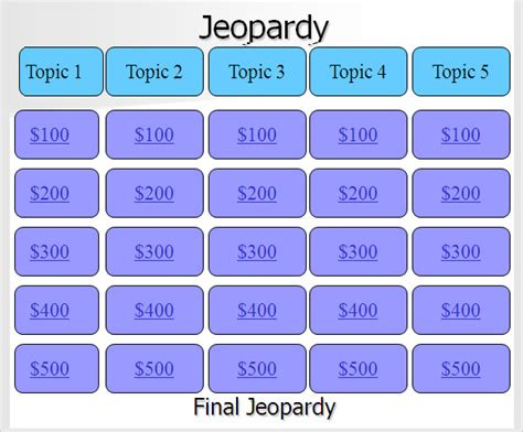 jeopardy template for google docs sle jeopardy powerpoint template 9 free documents in ppt