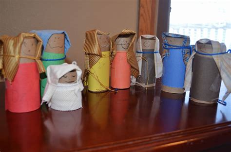 recycled toilet paper tube nativity craft  preschool