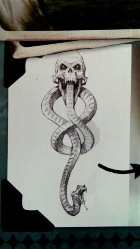 glow in the dark death eater tattoo variant to the dark mark tattoo i like the style left