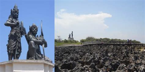 Maskot Krisna patung krisna arjuna jadi mascot pulau mungil paninsula