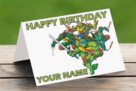 printable birthday cards ninja turtles 8 best images of 6 free printable happy birthday ninja
