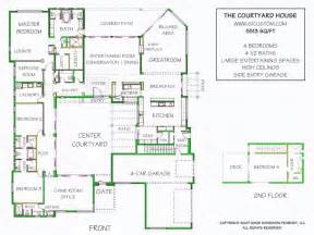 Courtyard Home Plans Courtyard House Plan Contemporary Courtyard House Plan