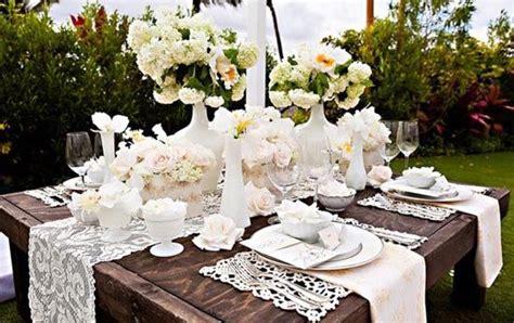 Hochzeitsdekorationen Tisch by 19 Tisch Deko Blumen Spitze Holz Hochzeit Natur Laendlich