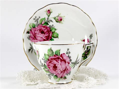 Cup And Saucer Shabby crown essex cup and saucer shabby roses china