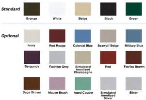 Aluminum Windows Color Chart Oridow Industrial Limited
