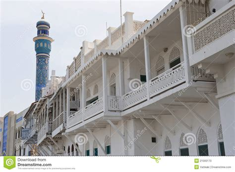 building style traditional building style in muscat oman stock photo