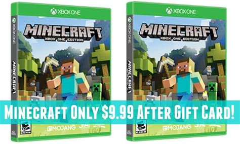 Where Can You Get Minecraft Gift Cards - minecraft for xbox one only 9 99 after gift card