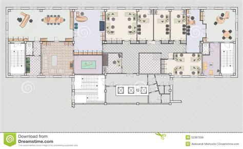bureau plan immeuble de bureaux de plan illustration stock image