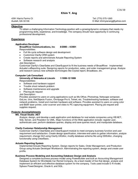 Behavior Analyst Sle Resume by Programmer Analyst Resume Sle 28 Images Programmer Analyst Resume Sle 28 Images Senior It