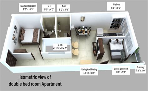 450 sq ft 1 BHK 1T Apartment for Sale in Fortune Abodes