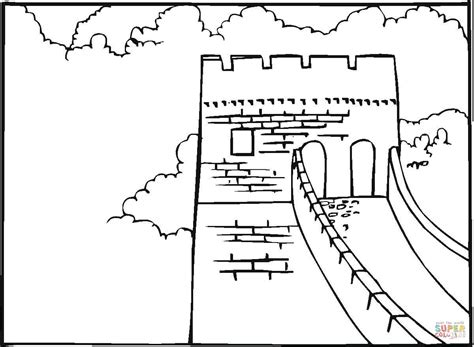 Great Wall Of China Coloring Page great wall of china coloring page free printable