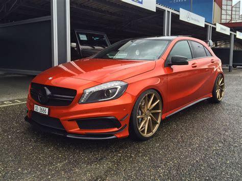 W176 Tieferlegen by A45 Fiery Orange 16 Tieferlegen Des W176 Mercedes A