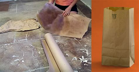 Decoration Things For Home She Used Paper Bags To Create Her Flooring And The Results