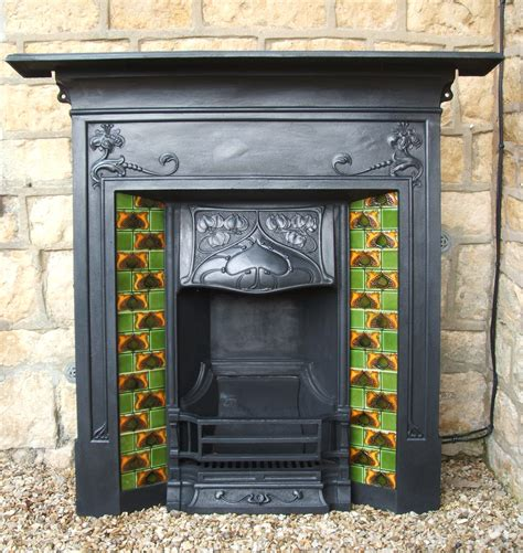 Reproduction Cast Iron Fireplaces by Charles Graham Architectural Antiques And Fireplaces Nouveau Cast Iron Combination Fireplace