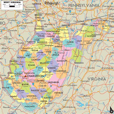 road map of virginia usa west virginia map