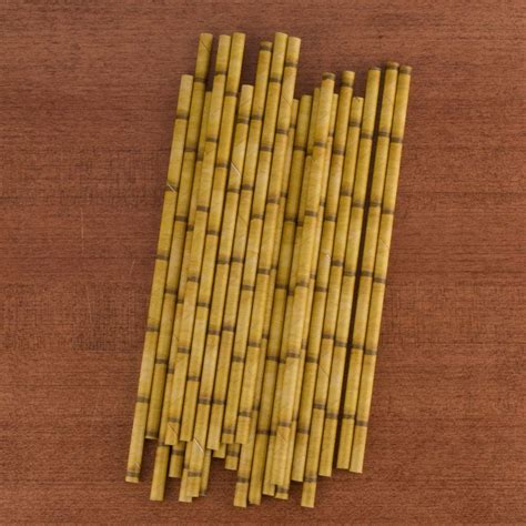 Bamboo Paper - bamboo paper straws pack of 24