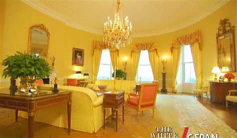 Yellow oval room white house museum