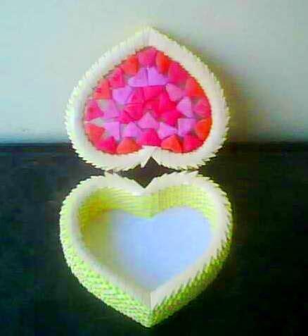 3d origami heart box tutorial heart box album mohammad nofal 3d origami art