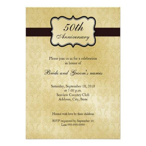 50th Anniversary Invitations Zazzle 50th Wedding Anniversary Newspaper Announcement Template