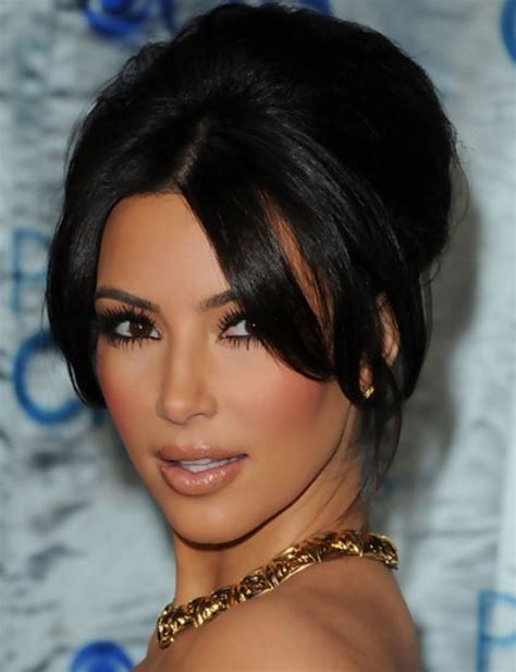 short hairstyles with center part and bangs kim kardashian hairstyles graceful french twist with