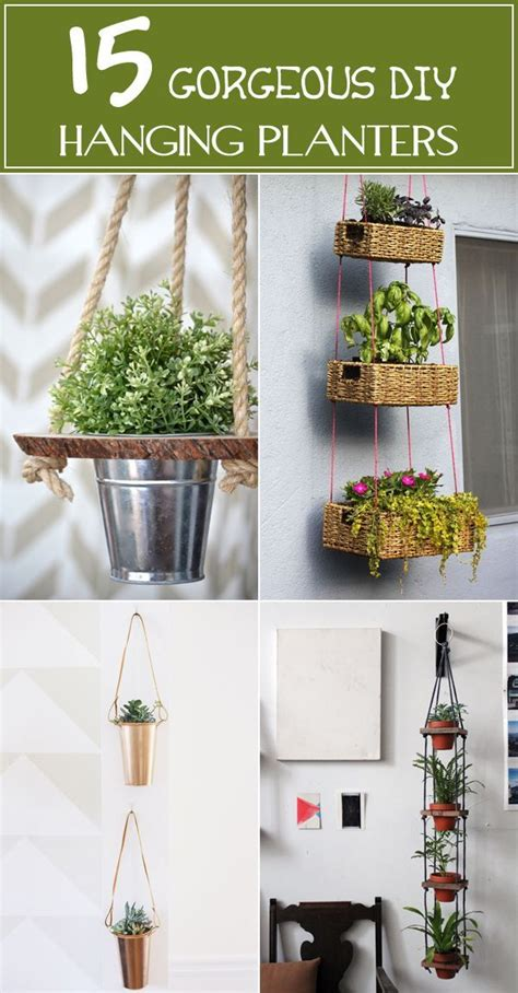 gorgeous diy hanging planter ideas  beautify