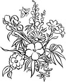 floral coloring pages free flower coloring pages for adults flower coloring page