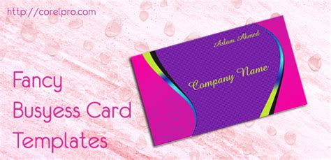 fancy business card templates in coreldraw format for free