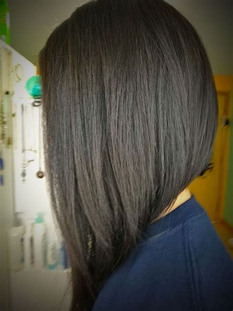 medium length inverted bob back view short hairstyles i
