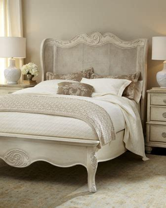 Country White Headboards Bedroom Furniture by Horchow Cora Bed Look 4 Less