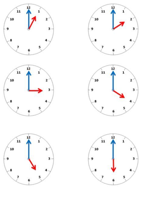 printable o clock telling the time o clock matching activity by