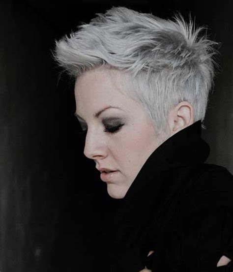 silver pixie hair cut silver pixie hair the best short hairstyles for women 2016