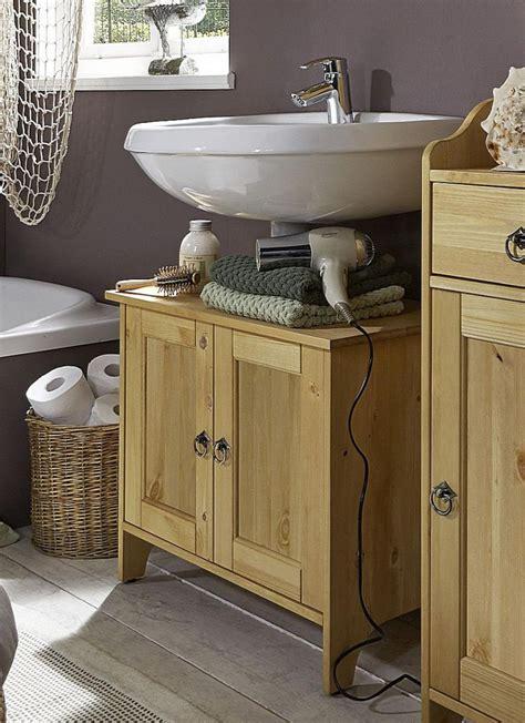Waschbecken Mit Unterschrank Holz by Waschtisch Unterschrank 65x56x38cm Mit 2 T 252 Ren Kiefer