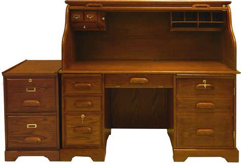 oak roll top computer desk in stock
