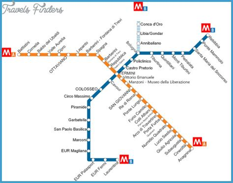 rome metro map rome subway map travelsfinders