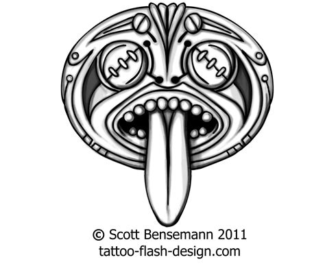 tribal face tattoo designs tiki images designs