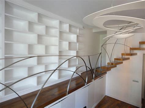 soppalco libreria soppalco con libreria in legno listellato laccato bianco