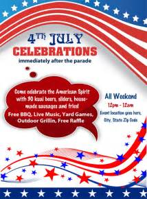 Celebrate It Templates by 4th Of July Flyer Sourceforge Net