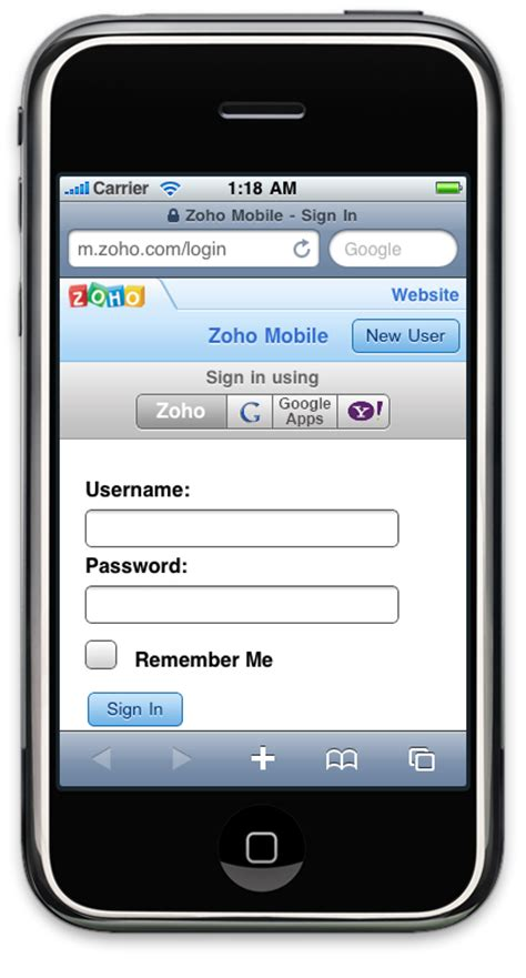 mobile login page zoho mobile updated with zoho docs new features 171 zoho
