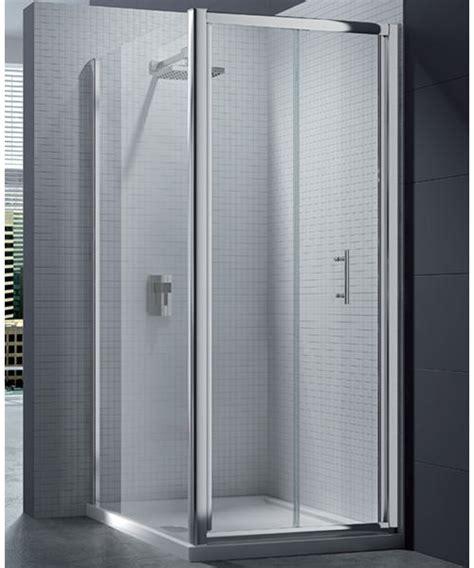 Merlyn 6 Series 4mm Clear Glass Bi Fold Shower Door 760 800mm Bi Fold Glass Shower Doors