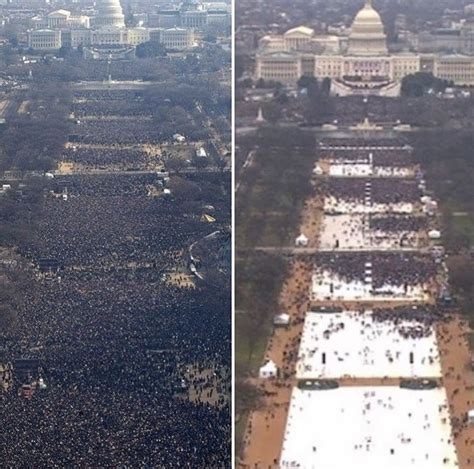 picture of inauguration crowd trump s inauguration crowd dwarfed by obama s see for