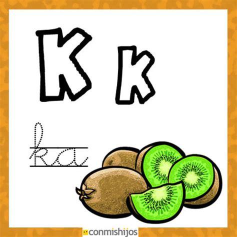 imagenes que comienzan con la letra k fichas para aprender las letras y colorear letra k