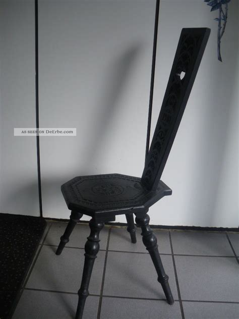 sehr dunkler stuhl sehr alter seltener stuhl melkstuhl schemel 1901