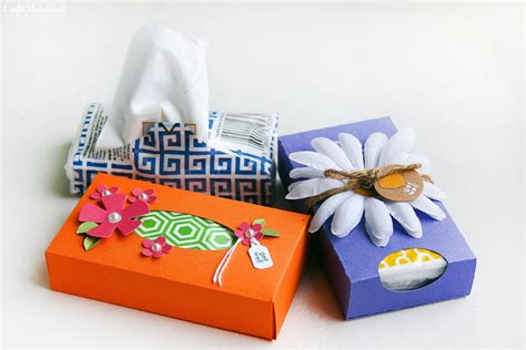 Tissue Paper Box Craft - more than a card less than a gift solution pocket tissue