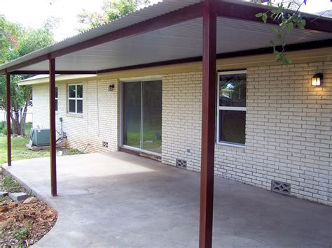 Steel Patio Custom Steel Porch Steel Awning Cover New Braunfels San