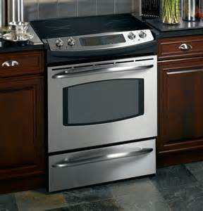 36 Slide In Gas Cooktop Js998skss Ge Profile 30 Quot Slide In Electric Range With