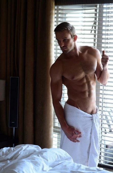 gay bedroom tumblr buffed hunk wrapped in white towel standing next to window